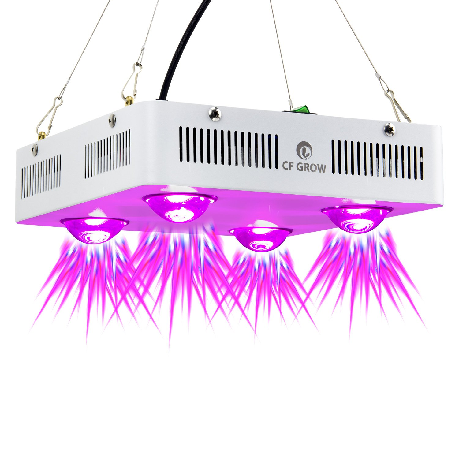 Led Grow Light Plant Lamp Full Spectrum 300w LED Fixture for Indoor Hydroponic Greenhouse Leafy Vegetable Flower Growth Warm White[Energy Class A+] - White CF Grow