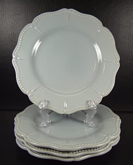Amazon.com: Chris Madden Ivory Salad Plate Set of 4: Kitchen & Dining
