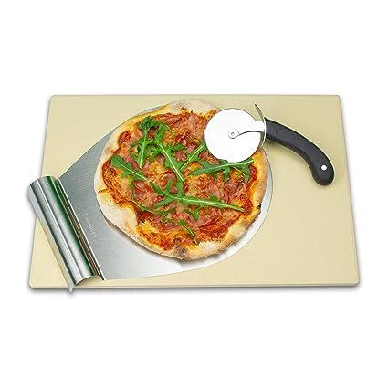 radoleo piedra para pizza Set para el/Premium Barbacoa Parrilla de piedra de cordierita/