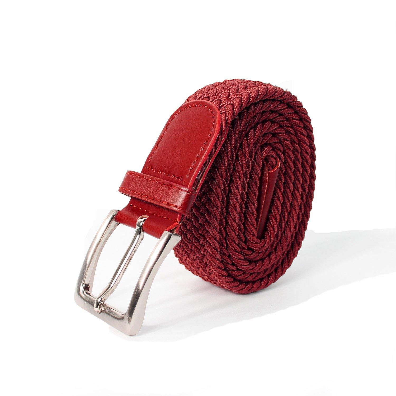 8bcceaa407fa Glamexx24 Unisexe Tissu élastique Ceinture tressée Stretchbelt ceinture  étirable pour les hommes et les femmes