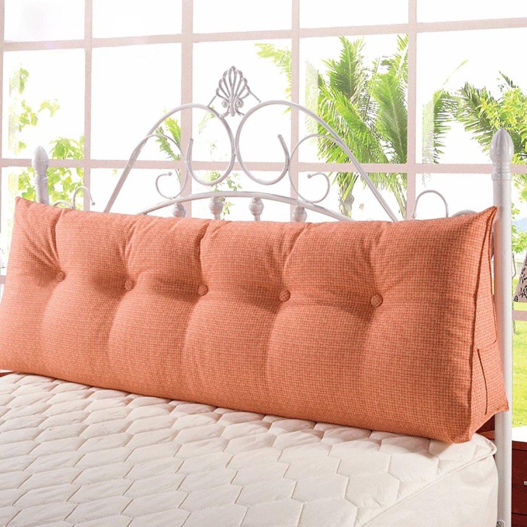 大特価 JJJJD ベッド大型バックソファクッションベッドヘッドピローロングピローベッドバッククッション柔らかい袋ベッドなしダブルウォッシャブル : (色 : ベージュ, サイズ さいず ベージュ, : : 150*50*20cm) B07PYF9PKZ 90*50*20cm|Orange Orange 90*50*20cm, [宅送]:6933357c --- arianechie.dominiotemporario.com