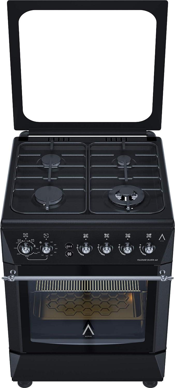 ALPHA Cocina de Gas VULCANO SILVER-60 Rustica. Encendido automático y temporizador en horno. **Alta Gama**: Amazon.es: Grandes electrodomésticos