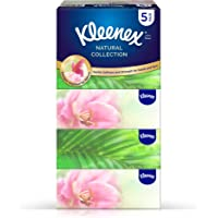 KLEENEX Natural Collections Facial Tissue, 170 Sheets x 2 Ply (Pack of 5 Boxes)