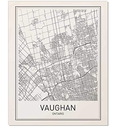 Vaughan Poster, Vaughan Map, Map of Vaughan, City Map Posters ... on