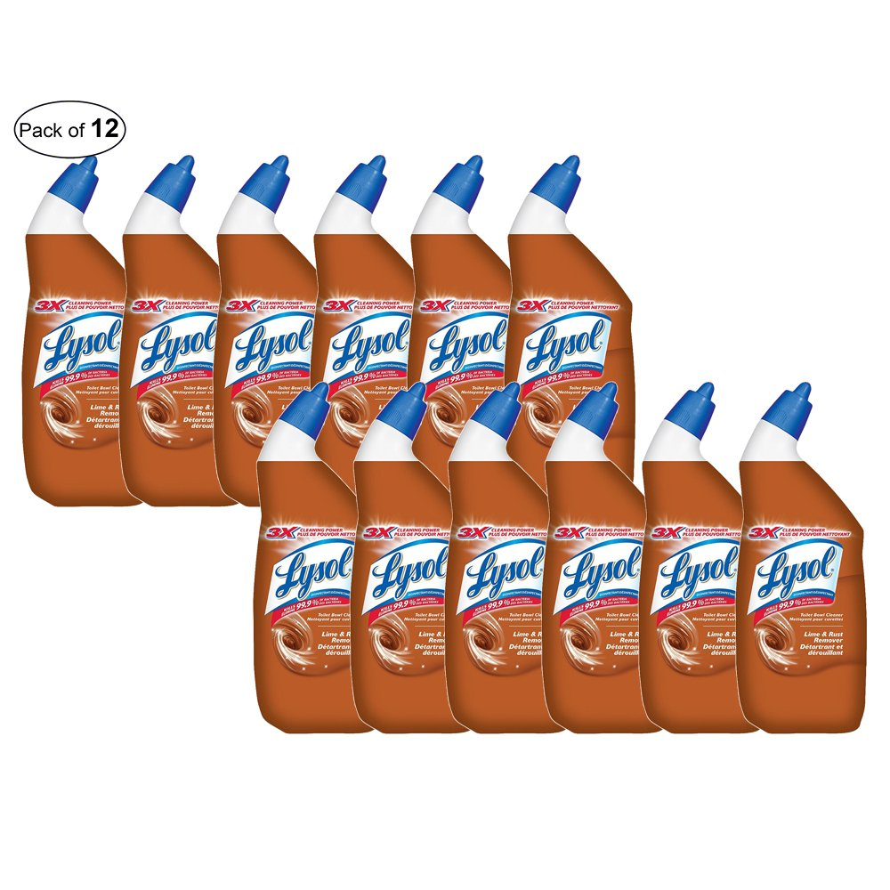 Toilet Bowl Cleaner, Lime & Rust Remover, 710 ml (Pack of 12) by Lysol