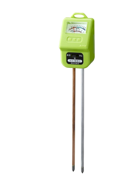 SATO 簡易型土壌作用酸度計 水分計付 No.1204-10