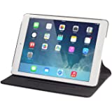 Ridge - Thin New iPad 9.7 Inch 2017 - Devicewear Ridge -Black Vegan Leather 5th Gen. Case, Six Position Flip Stand, Sleep/Wake Function