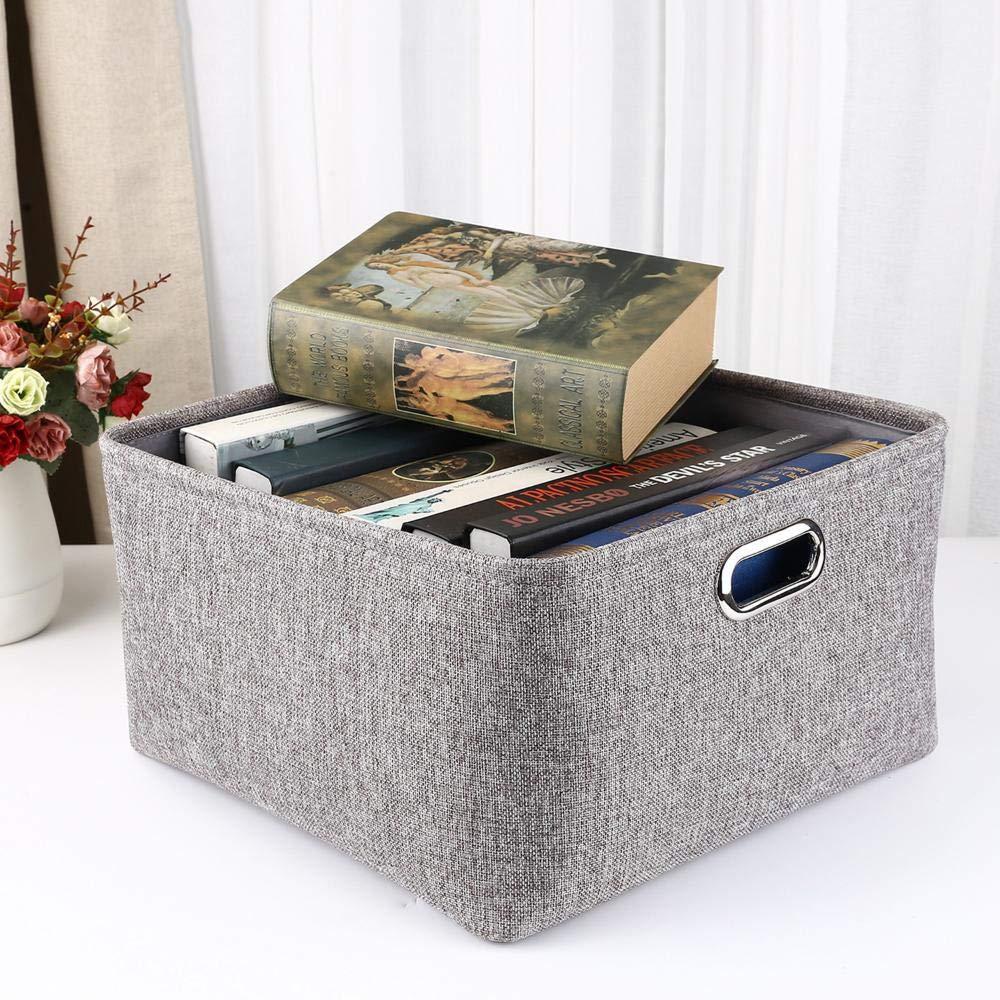 Ludage Caja de de de Almacenamiento de Tela del hogar Protección del Medio Ambiente algodón cáñamo Caja de Acabado 4b3184