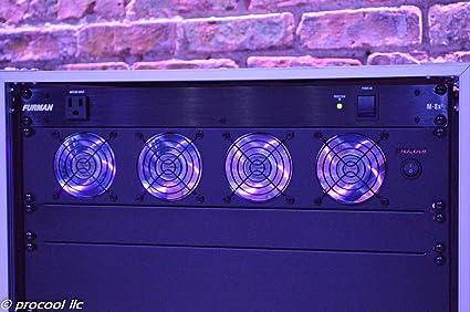 Procool Sl480p 2u Quiet Rack Mount Intake Fan Purple Led Fans Dj
