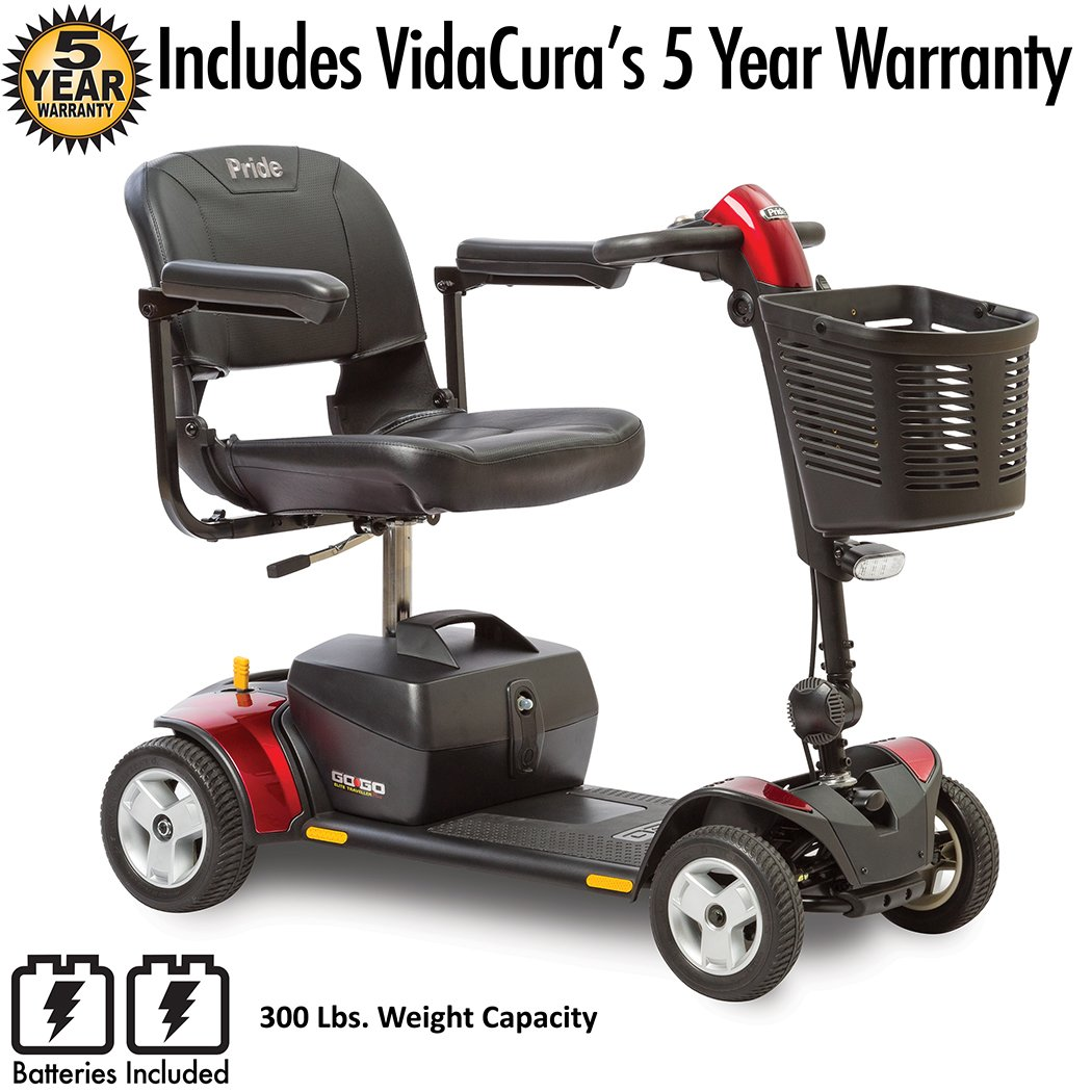 Pride Go-Go Elite Traveller Plus 4-Wheel Scooter Including 5 Year Protection Plan