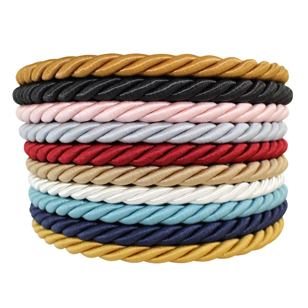 SGT KNOTS Twisted Craft Rope/Décor Trim Cord - 3/16, 1/4, 3/8, 1/2 - Several Colors (1/4 x 50') - Turquoise