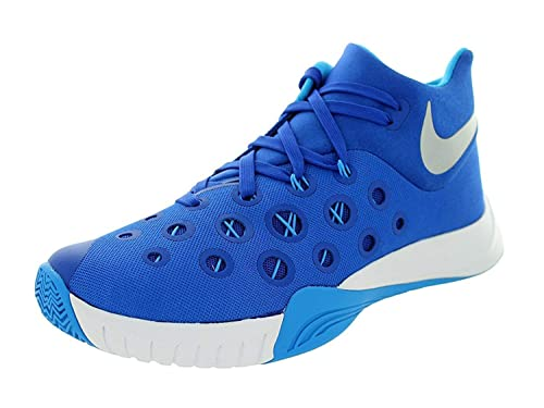 new product 423ab 2781c NIKE ZM Hyperquickness 2015 TB 749883 404 (Game Royal Blue Hero Metallic  Silver, 10.5 M US)  Amazon.in  Shoes   Handbags