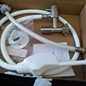 Mrs Bidet White Spray Attachment For Toilet Complete Kit