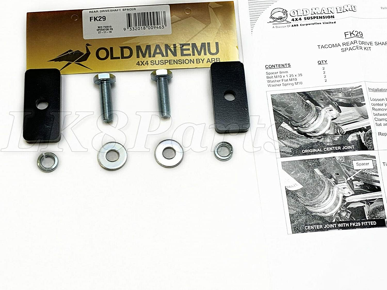 FK29 FK29 Old Man Emu Rear Driveshaft Spacer Kit for forToyota Tacoma