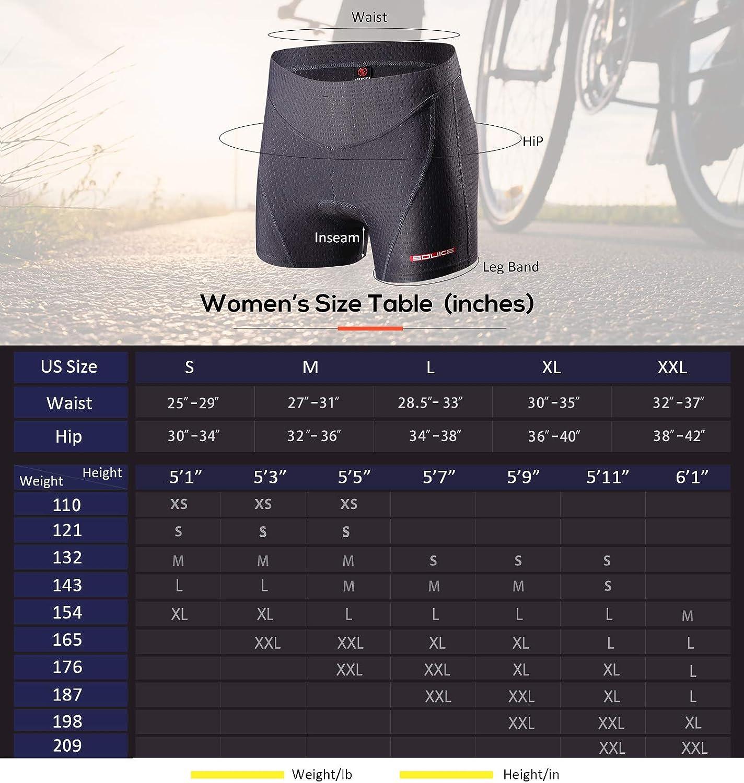 Souke Sports sous-v/êtements de Cyclisme Femme S/échage Rapide Gel 3D rembourr/é de v/élos