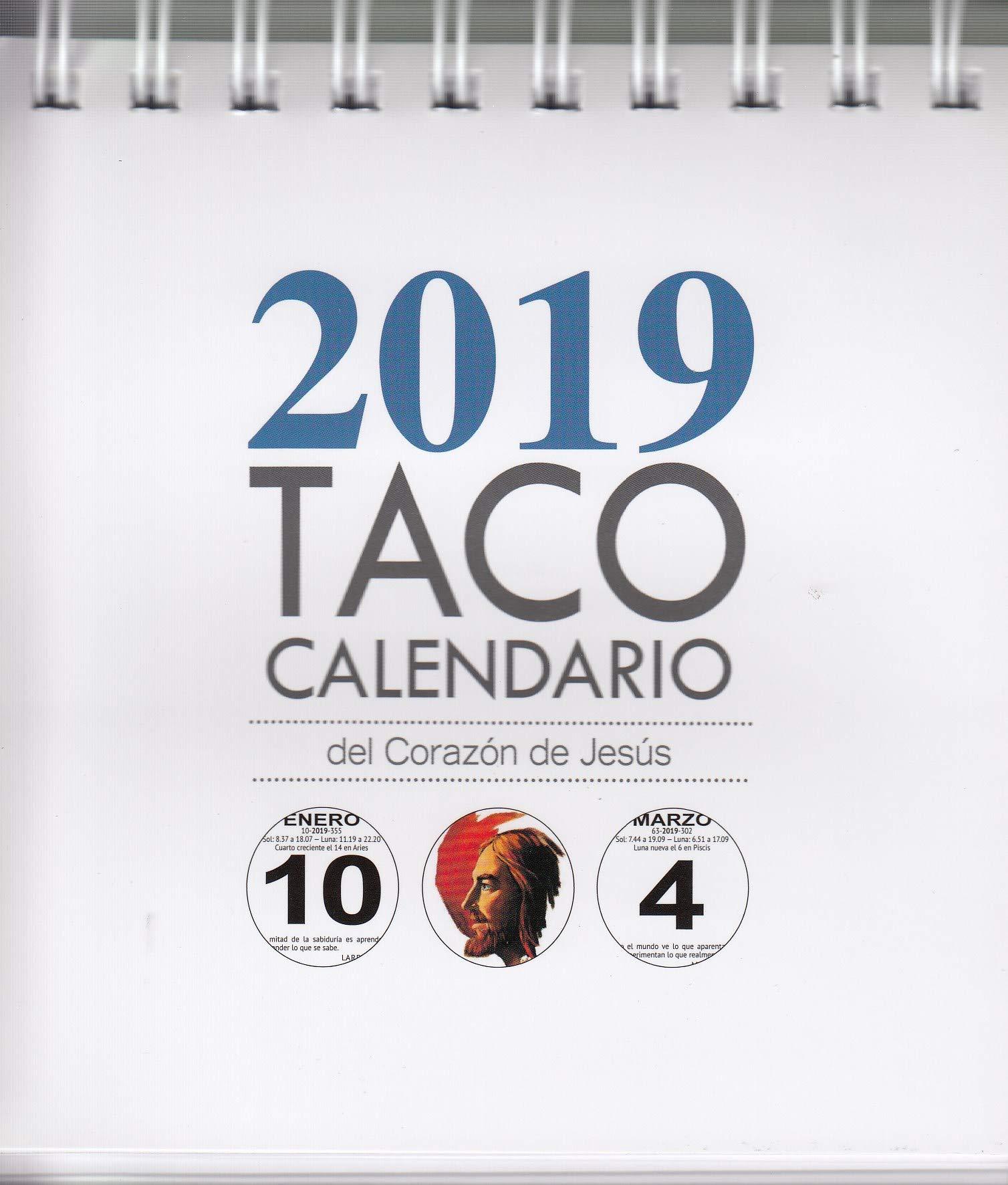 Taco Calendario Sagrado Corazón 2019 Peana. Tapa blanda – 11 sep 2018 Ediciones Mensajero 8427141416 GBCY Basteln / Handarbeiten