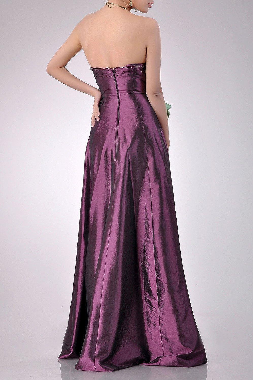 a2eaf46fa8a6 Adorona Natrual Taffeta A-line Strapless Long Bridesmaid Dresses: Amazon.co. uk: Clothing