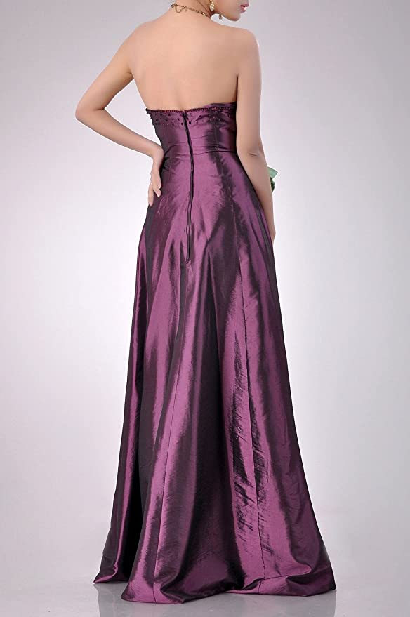 b117bd09588e Adorona Natrual Taffeta A-line Strapless Long Bridesmaid Dress at Amazon  Women's Clothing store: