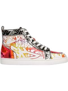 86cee7a6008a Christian Louboutin Men s 1190262CMA3 Multicolor Leather Hi Top Sneakers