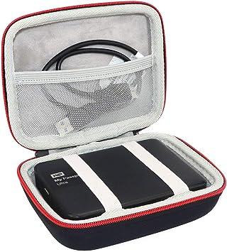 Asafez ハードトラベルケース Western Digital WD My Passport Easystore 1TB 2TB 3TB 4TB Elements ポータブル外付けハードドライブ