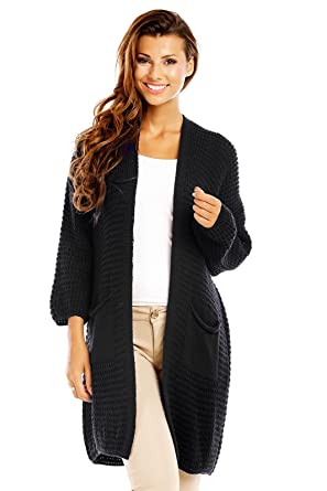 factory price 6dcbe 174c2 Italy Damen Strickmantel lang Cardigan Jacke Strickjacke mit Wolle & Alpaka  & Mohair