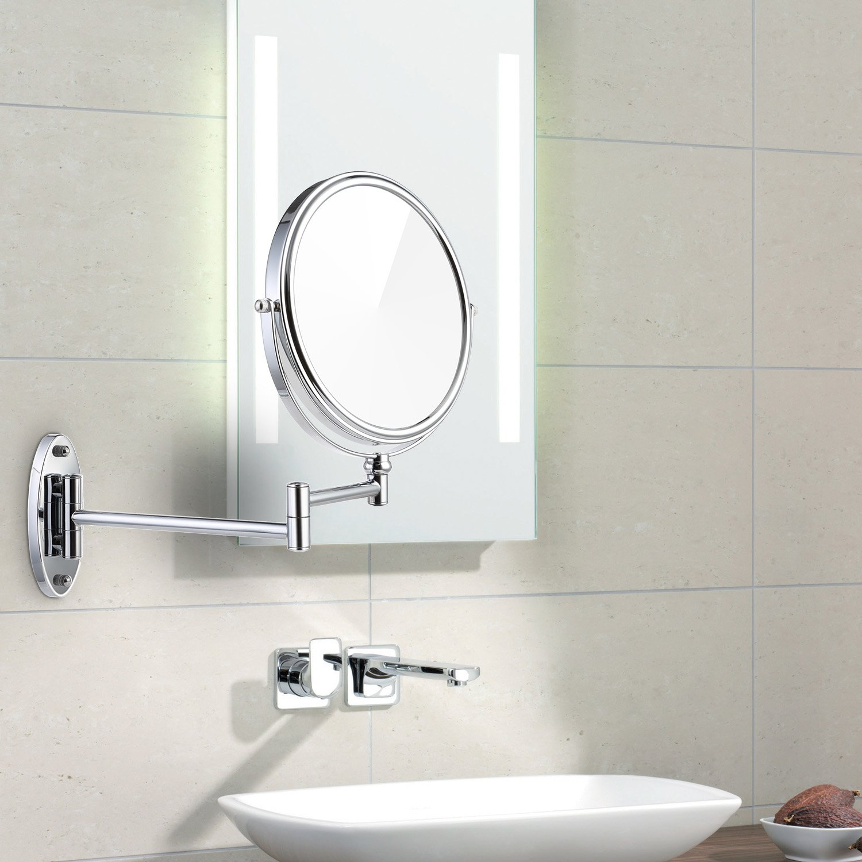 Amazon.com: Miusco 7X Magnifying Two Sided Vanity Makeup Mirror, 8 ...