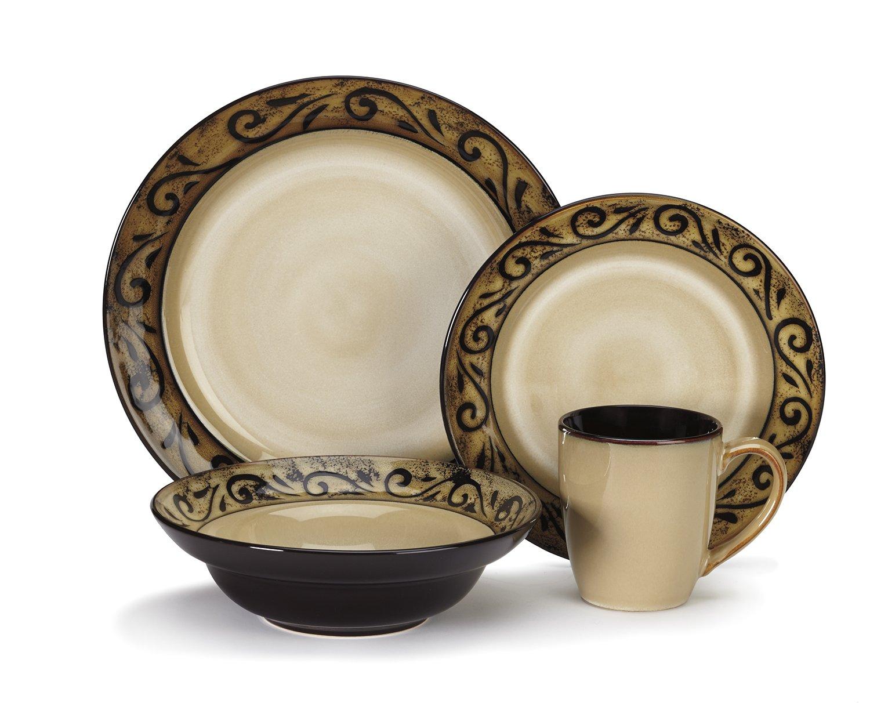 Amazon.com Cuisinart CDST1-S4G5 Stoneware Isere Collection 16-Piece Dinnerware Sets Kitchen \u0026 Dining  sc 1 st  Amazon.com & Amazon.com: Cuisinart CDST1-S4G5 Stoneware Isere Collection 16-Piece ...