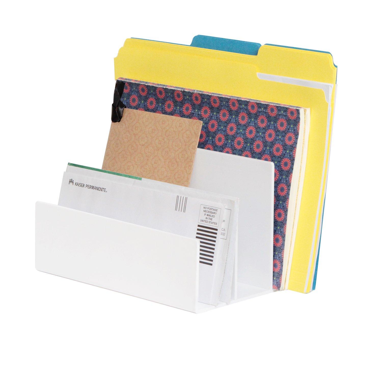 diviseur couleur blanche MK421A installation titulaire de lettre quadruple trieur - JackCubeDesign organisateur de dossier quadruple vertical acrylique organisateur