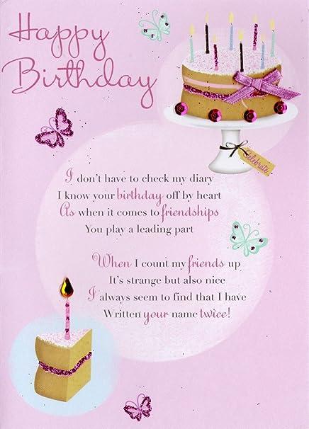Happy Birthday Friend Images.Amazon Com Second Nature Friend Happy Birthday Greeting