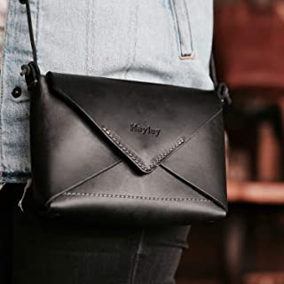 product image for The Cecilia Fine Leather Envelope Purse in Black