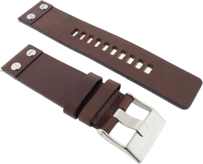 Correa para reloj diésel LB-DZ1716, correa de repuesto original DZ 1716, piel, 24 mm, color marrón
