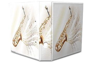 Leotie GmbH Archivador A4 Carpeta 2 anillas 60mm impreso Partitura saxofón: Amazon.es: Hogar