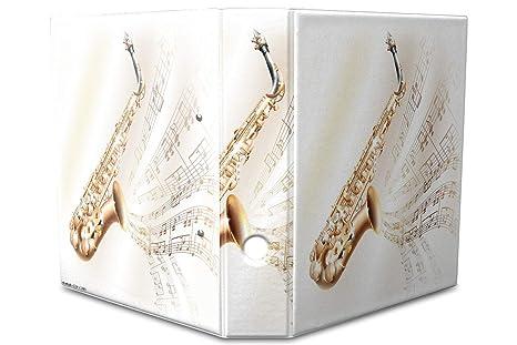 Leotie GmbH Archivador A4 Carpeta 2 anillas 60mm impreso Partitura saxofón