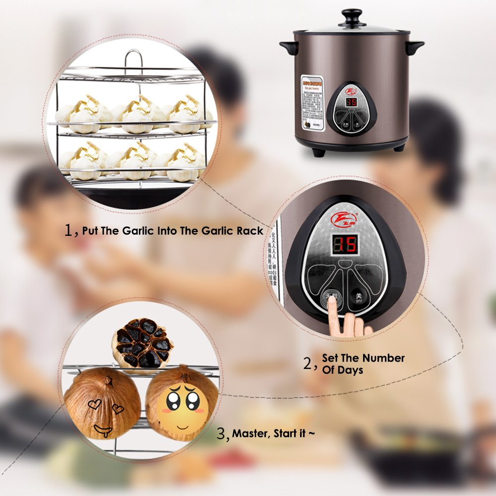 HUKOER Black Garlic Fermenter Full Automatic Intelligent Control, Single Colve Garlic Mutiple Clove Garlic DIY for home 110V by HUKOER (Image #2)