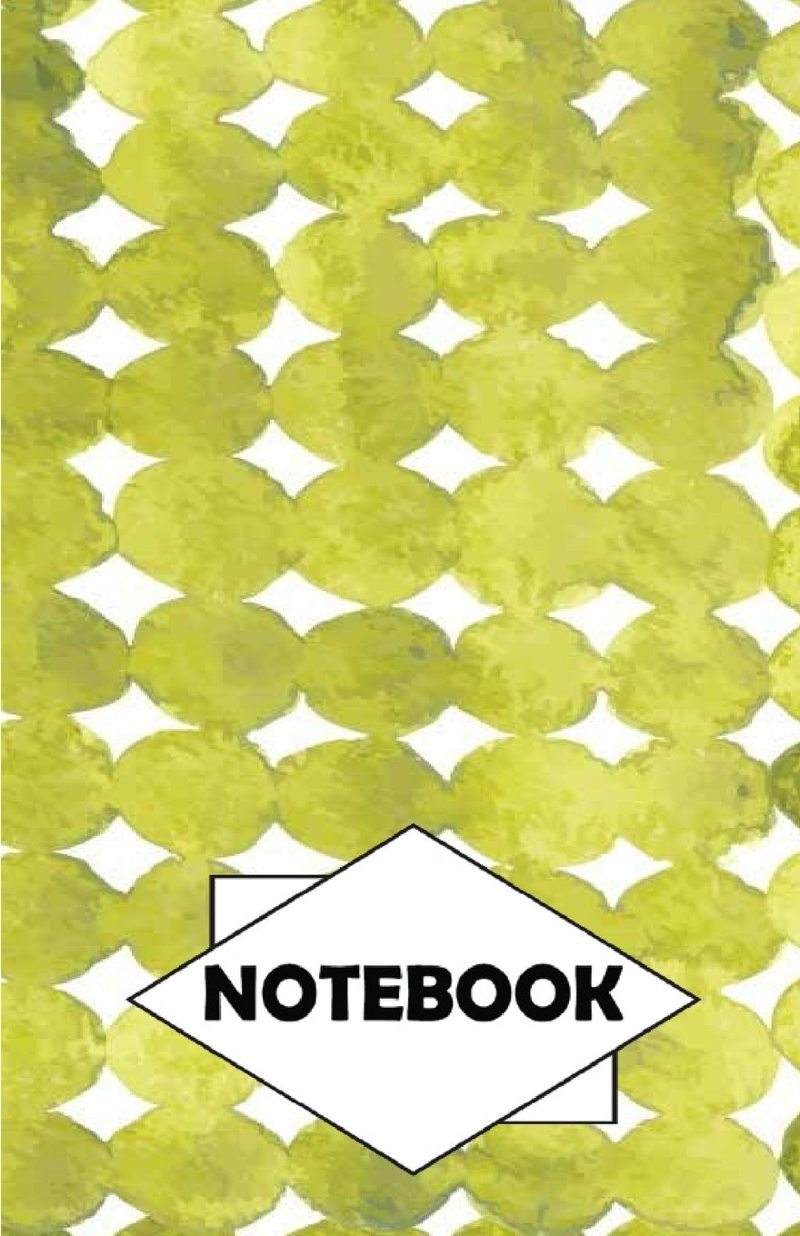 "Notebook: Dot-Grid,Graph,Lined,Blank Paper : Watercolor green : Small Pocket diary 110 pages, 5.5"" x 8.5"" ebook"