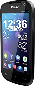BLU Dash 4.0 D270a Unlocked Dual SIM Phone with Dual-Core 1GHz Processor, Android 4.0 ICS, 3G HSPA, and High Res LCD Screen - U.S. Warranty (Black)