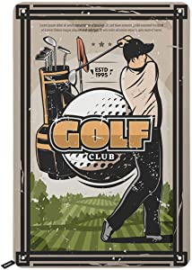 Swono Golf Club Tin Signs,Golf Man with Tools and Ball on The Filed Vintage Metal Tin Sign for Men Women,Wall Decor for Bars,Restaurants,Cafes Pubs,12x8 Inch