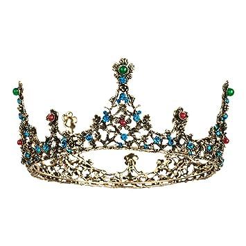 Amazon.com: JOYPEA - Tiara retro, corona de cumpleaños ...
