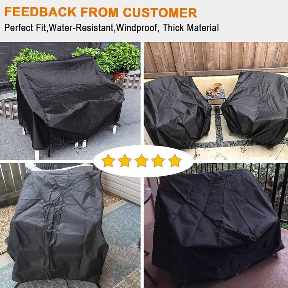 Weimoli Hilai Garden Chair Covers Durable Patio Stacking Chair Cover Waterproof Furniture Chair Cover for Outdoor Chairs Storage 70 * 79 * 102CM