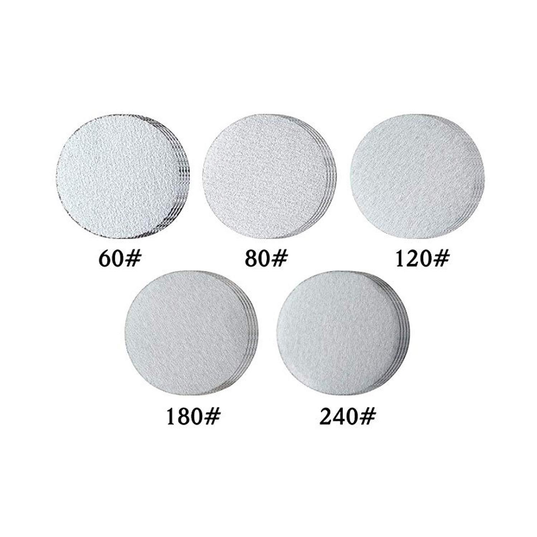 "2 3 Mini Air Sander Discs Pneumatic Polishing Tool 3/"" Hook/&Loop Discs"