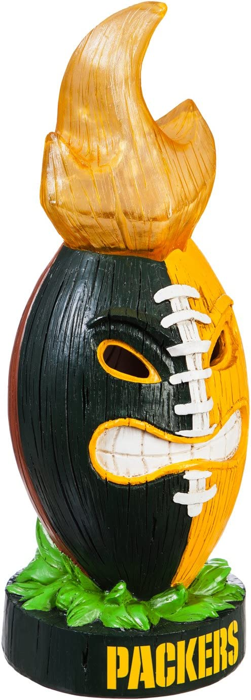 Team Sports America NFL Lit LED Team Tiki Totem Outdoor Safe Garden Statue