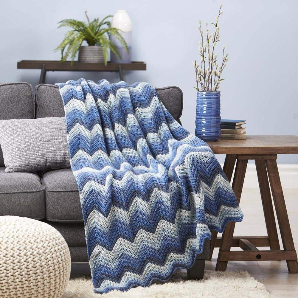 Herrschners® Blue Ice Ripple Afghan Kit