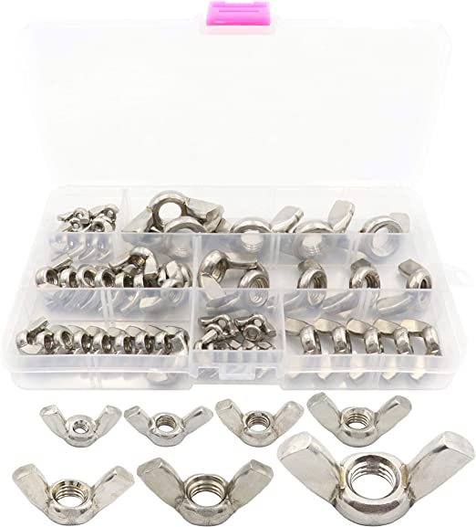 304 Stainless Steel Butterfly Nut M4 M5 M6 M8 M10 M12 With Ears Screw Nuts