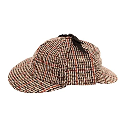 baaa931e6ee mens tweed deerstalker sherlock holmes detective wool country at Amazon  Women s Clothing store