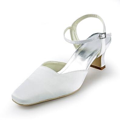 a6c1ee7e17e249 Lemandy Schlichte günstige Brautschuhe 3-5cm L  Amazon.de  Schuhe ...