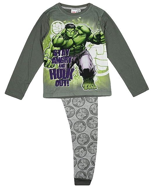 Amazon.com: Pijama para chicos de Hulk Stay Angry & Hulk Out ...
