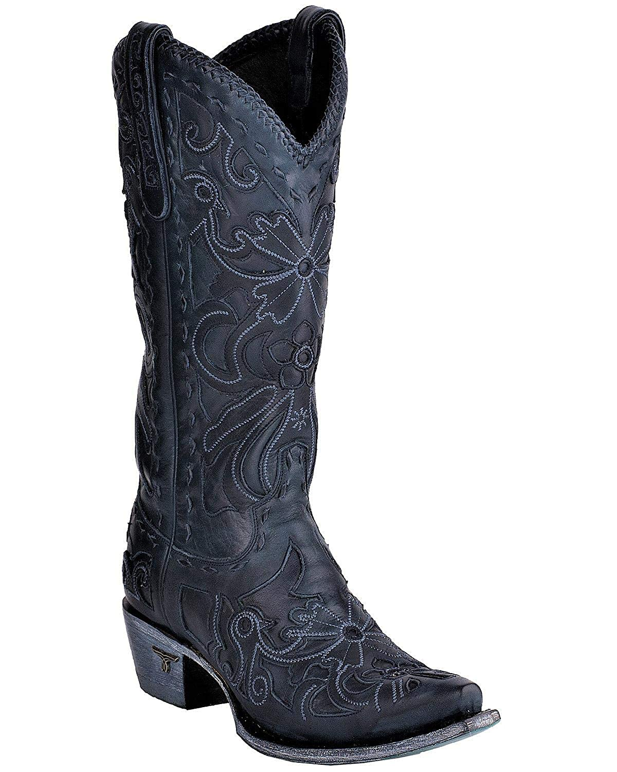 f134fcd25b1 Amazon.com | Lane Women's Robin Navy Cowgirl Boot Snip Toe - Lb0237i ...