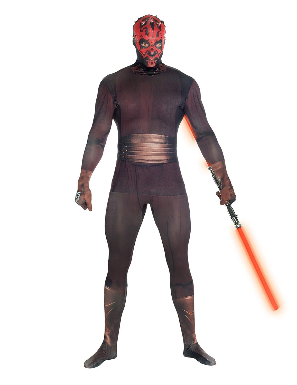 KULTFAKTOR GmbH Star Wars Darth Maul Digital Morphsuit Lizenzware schwarz-rot M - 1,50m bis 1,60m