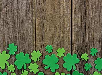 Leowefowa 10x10ft St Patricks Day Lucky Shamrocks Backdrop Green Clovers with Shining Gliter Dots Vinyl Photography Backgroud Spring Luck Bless Party Decoration Children Adult Photo Studio Props