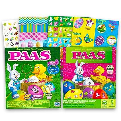 Amazon Com Paas Egg Decorating Kit Super Set Pack Of 2 Classic
